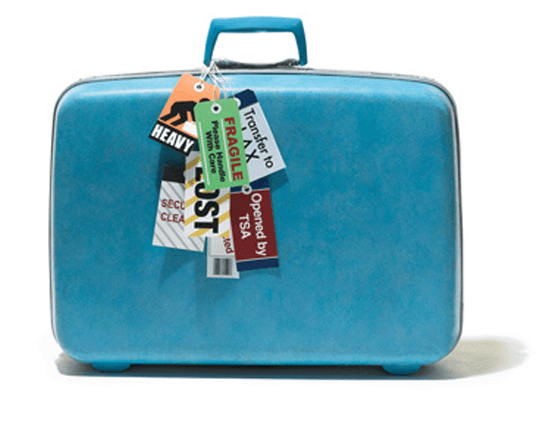 A suitcase packed with G1G Travel Medical Insurance